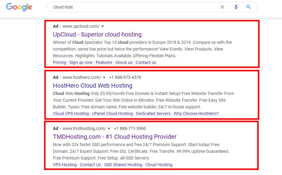 چند نمونه تبلیغ در گوگل ادز