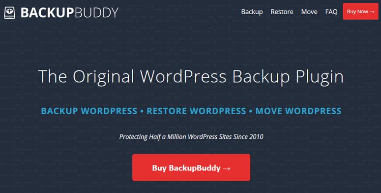 افزونه Backup Buddy برای بک آپ وردپرس